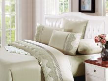 Комплект постельного белья Cleo  Luxury modal  LACE евро  Арт.31/004-МL