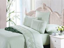 Комплект постельного белья Cleo  Luxury modal  LACE евро  Арт.31/005-МL
