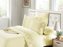 Комплект постельного белья Cleo  Luxury modal  LACE евро  Арт.31/009-МL
