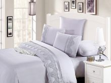Комплект постельного белья Cleo  Luxury modal  LACE евро  Арт.31/010-МL