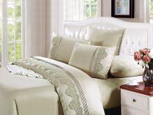 Комплект постельного белья Cleo  Luxury modal  LACE семейный  Арт.41/004-МL
