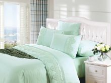 Комплект постельного белья Cleo  Luxury modal  LACE семейный  Арт.41/006-МL