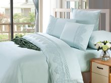 Комплект постельного белья Cleo  Luxury modal  LACE семейный  Арт.41/008-МL
