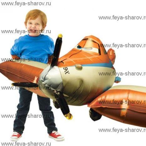 Шар-ходячка самолет Дасти 166 см