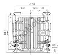 Установочные размеры площадки картера двигателя Zongshen ZS GB1000. Тексномото.ру