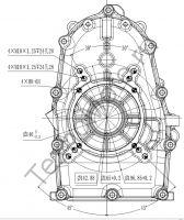 Присоединительные размеры крышки картера двигателя Zongshen ZS GB1000. Тексномото.ру