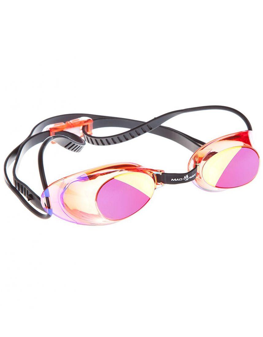 Очки для плавания стартовые Mad Wave Liquid Racing Mirror