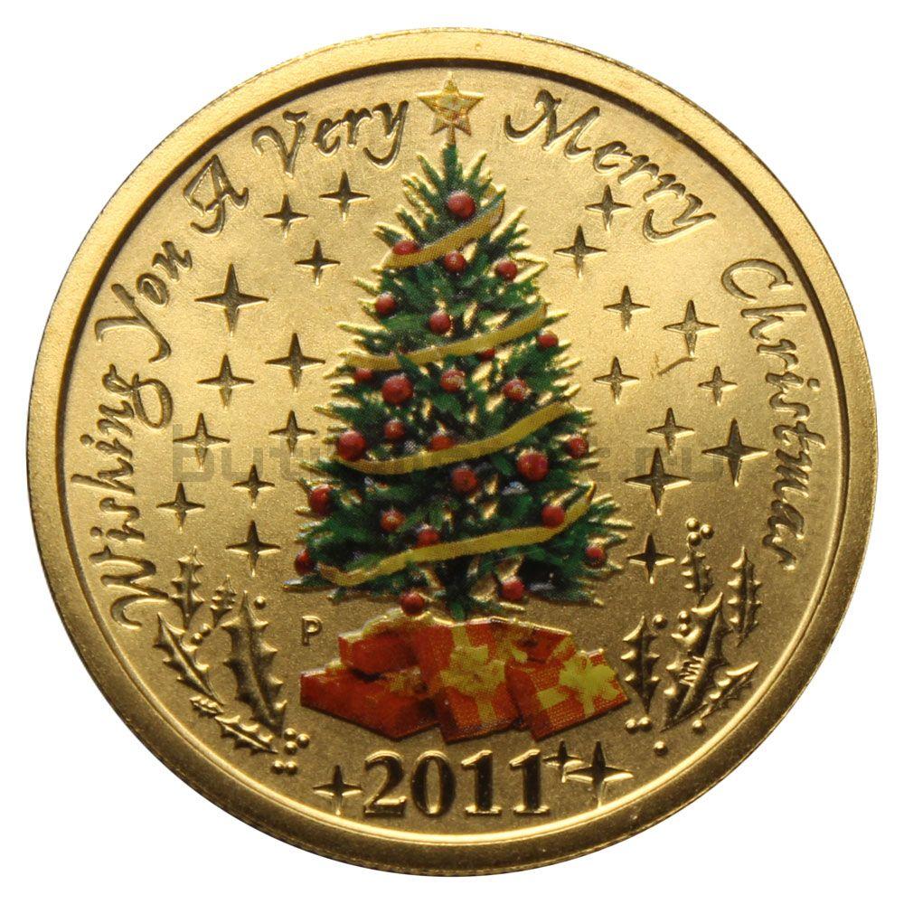 1 доллар 2011 Австралия Счастливого Рождества