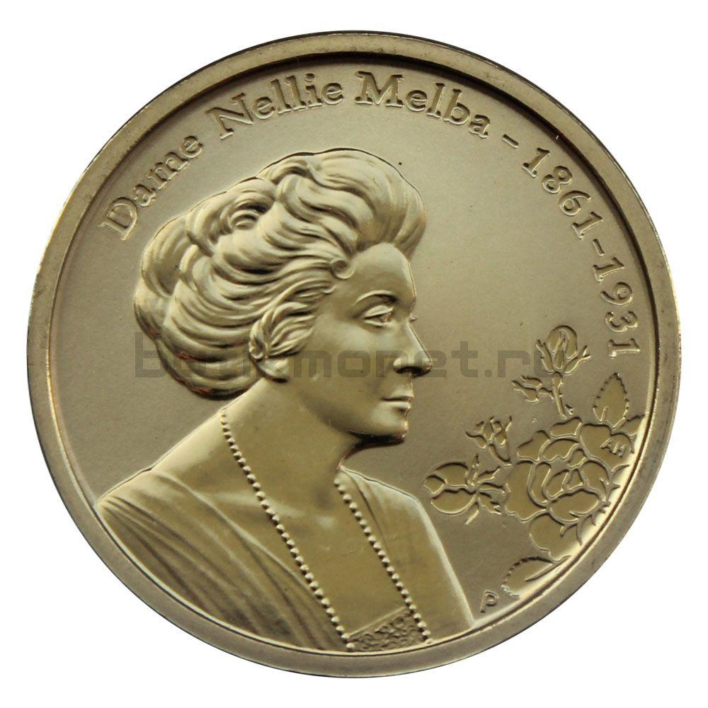 1 доллар 2011 Австралия 150 лет со дня рождения Нелли Мельбы