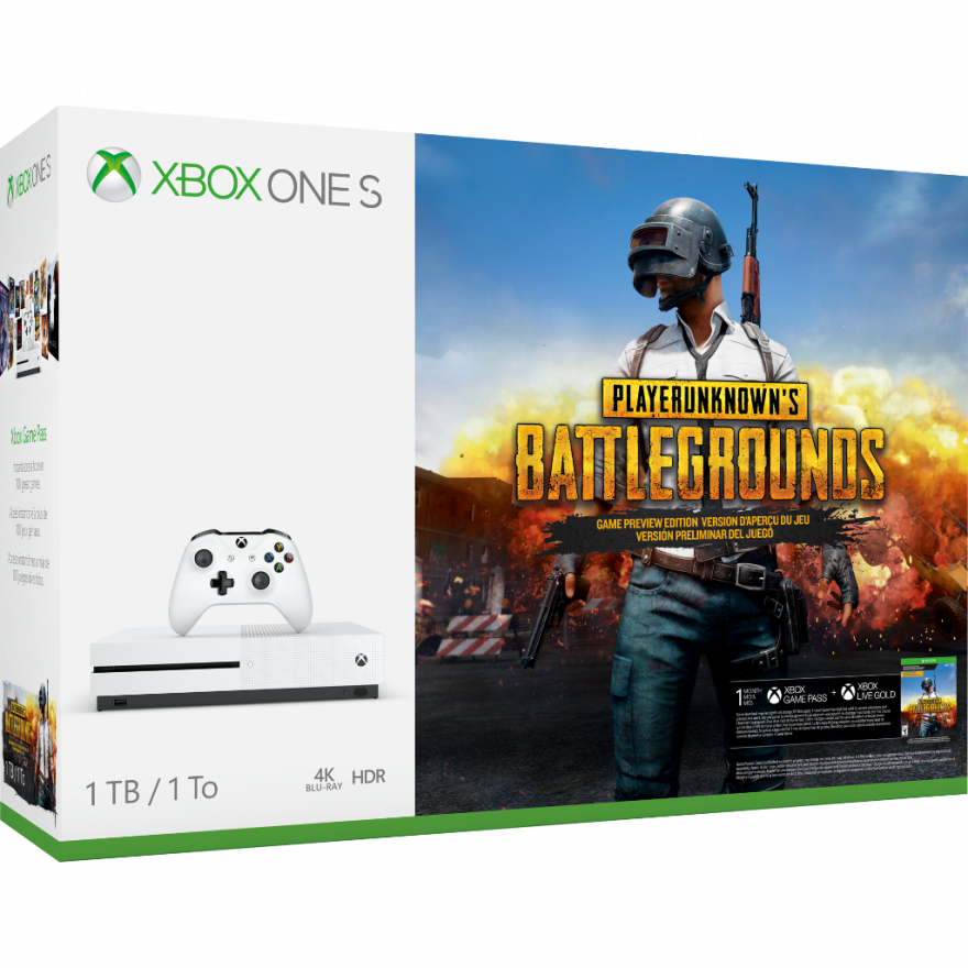 Игровая приставка Microsoft Xbox One S 1 ТБ + игра Playerunknown's Battlegrounds
