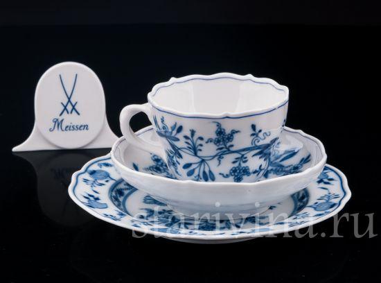 Изображение Чайное трио, Цвибельмусер, Meissen, Германия