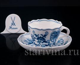 Чайная пара, Цвибельмустер, Meissen, Германия, вт. пол 20 в.