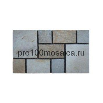 PAV-107 сланец. Брусчатка серия PAVING,  размер, мм: 600x400x10~15 (NS Mosaic)