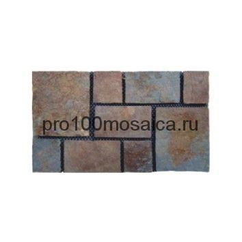 PAV-108 сланец. Брусчатка серия PAVING,  размер, мм: 600x400x10~15 (NS Mosaic)