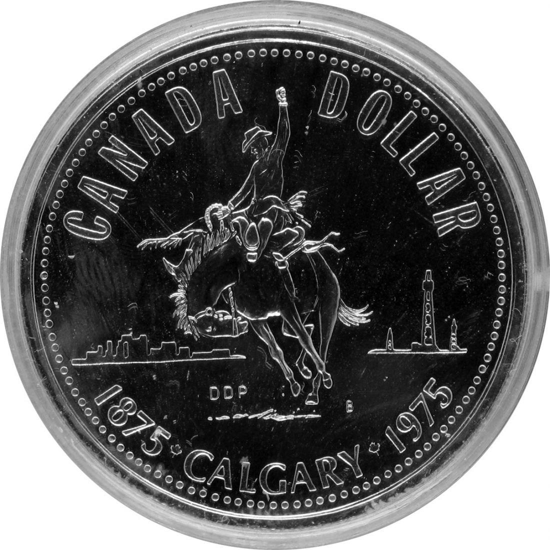 Канада 1 доллар 1975 г. Калгари Ковбой