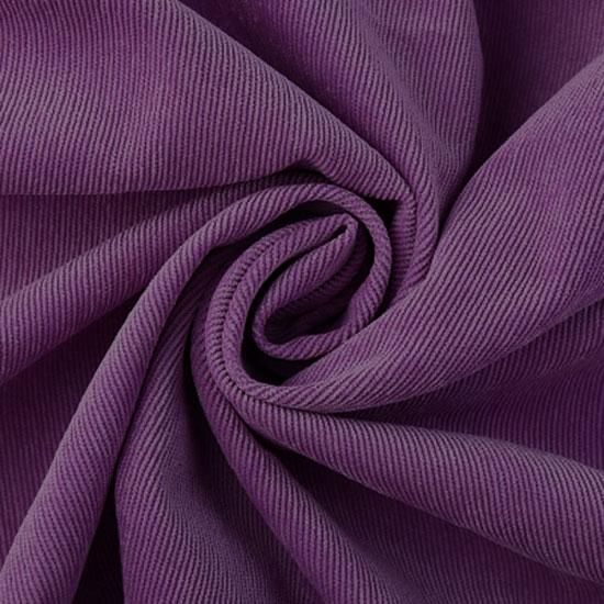 Вельвет в рубчик фиолетовый