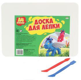 Доска для лепки с бортом, А4 + 2 стека (арт. ДЛ-7937)