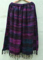 Теплая юбка из шерстяной ткани наподобие пледа. Купить в интернет магазине