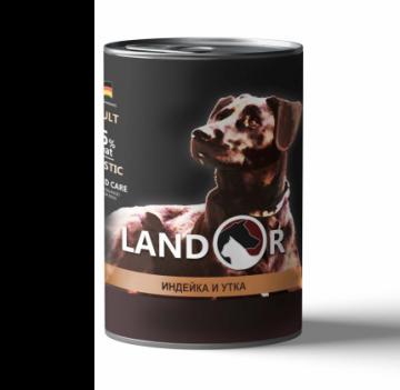 Ландор для собак всех пород индейка с уткой 400г