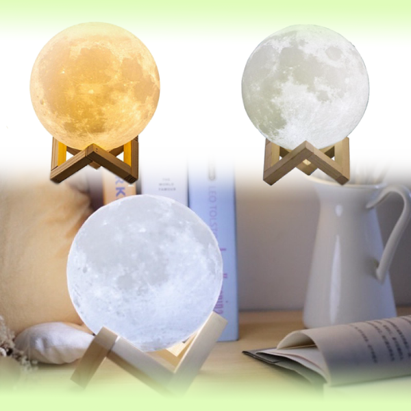 Ночник 3D Луна Moon Light, диаметр 12 см