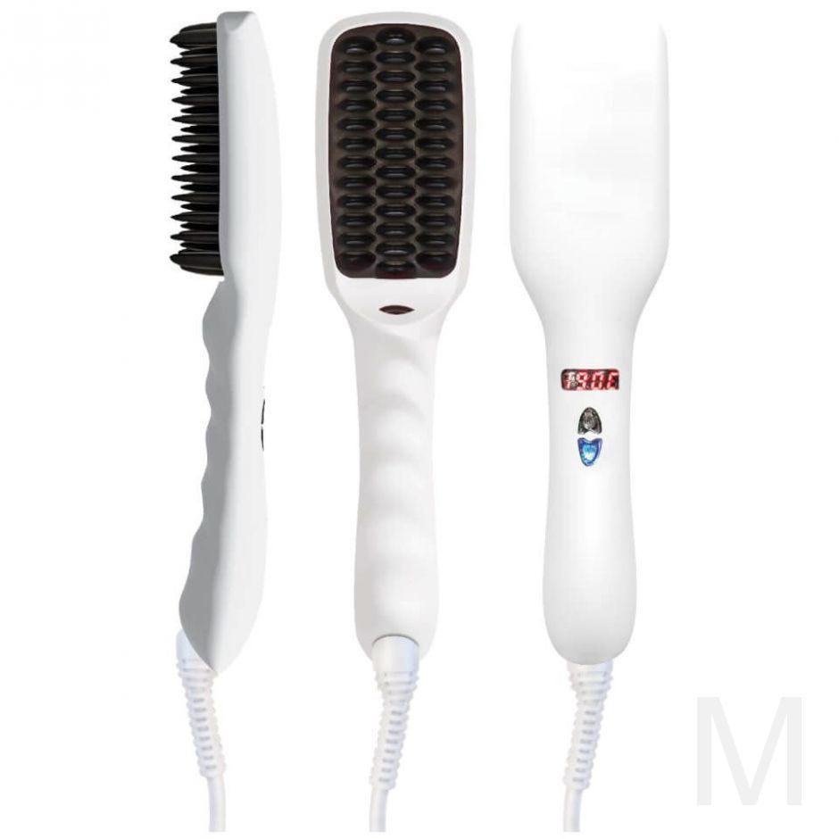 Расческа выпрямитель для волос PTC HEATING 2 В 1 Белая