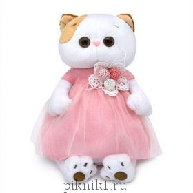 Кошечка Ли-Ли в платье с вязаными ягодками 24 см