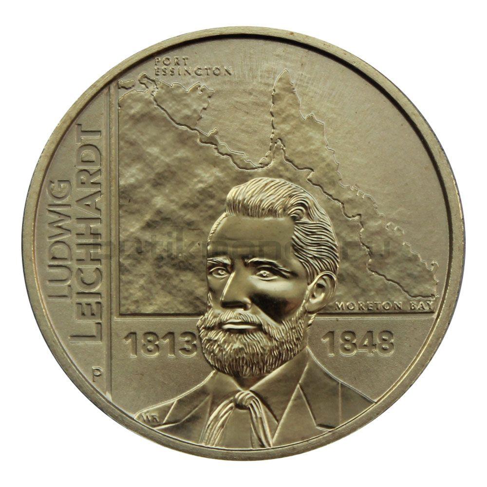 1 доллар 2013 Австралия 200 лет со дня рождения Людвига Лейхгардта
