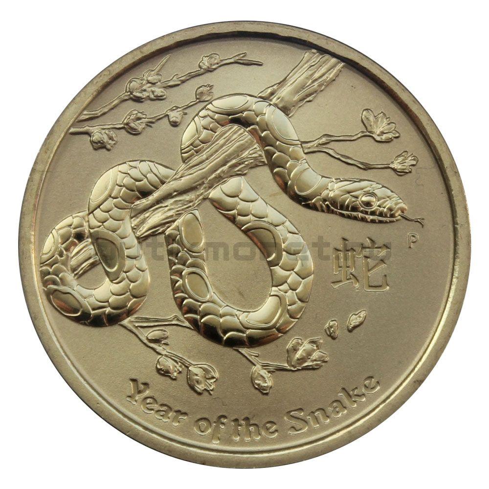1 доллар 2013 Австралия Год Змеи (Восточный календарь)