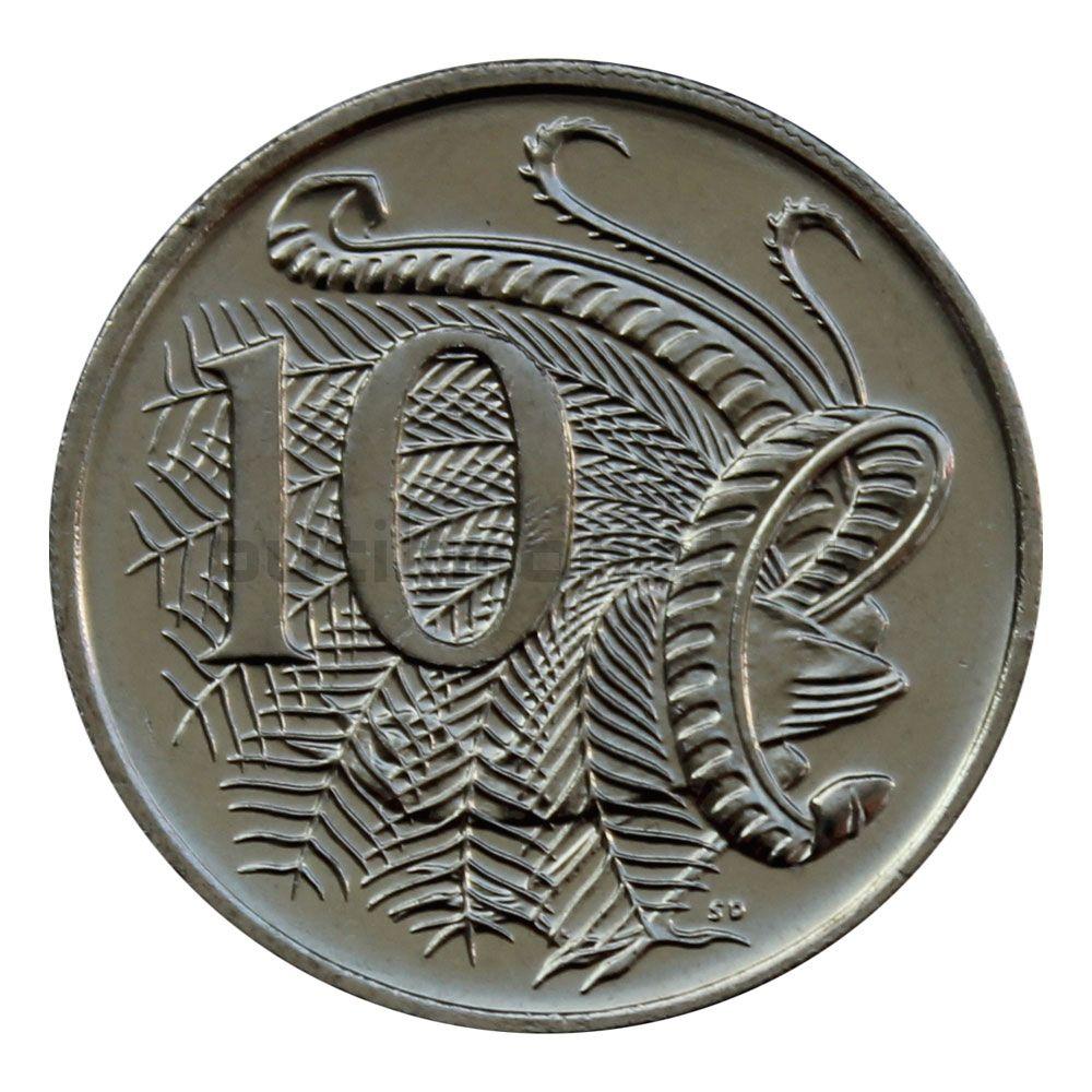 10 центов 2016 Австралия 50 лет с момента перехода на десятичную систему национальной валюты