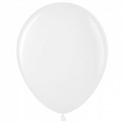 """Шар (10""""/ 25 см), белый, пастель, 100 шт"""