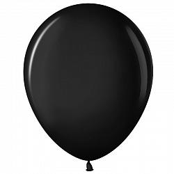 """Шар (12""""/ 30 см), чёрный, пастель, 100 шт"""