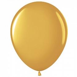 """Шар (12""""/ 30 см), золото, металлик, 100 шт"""