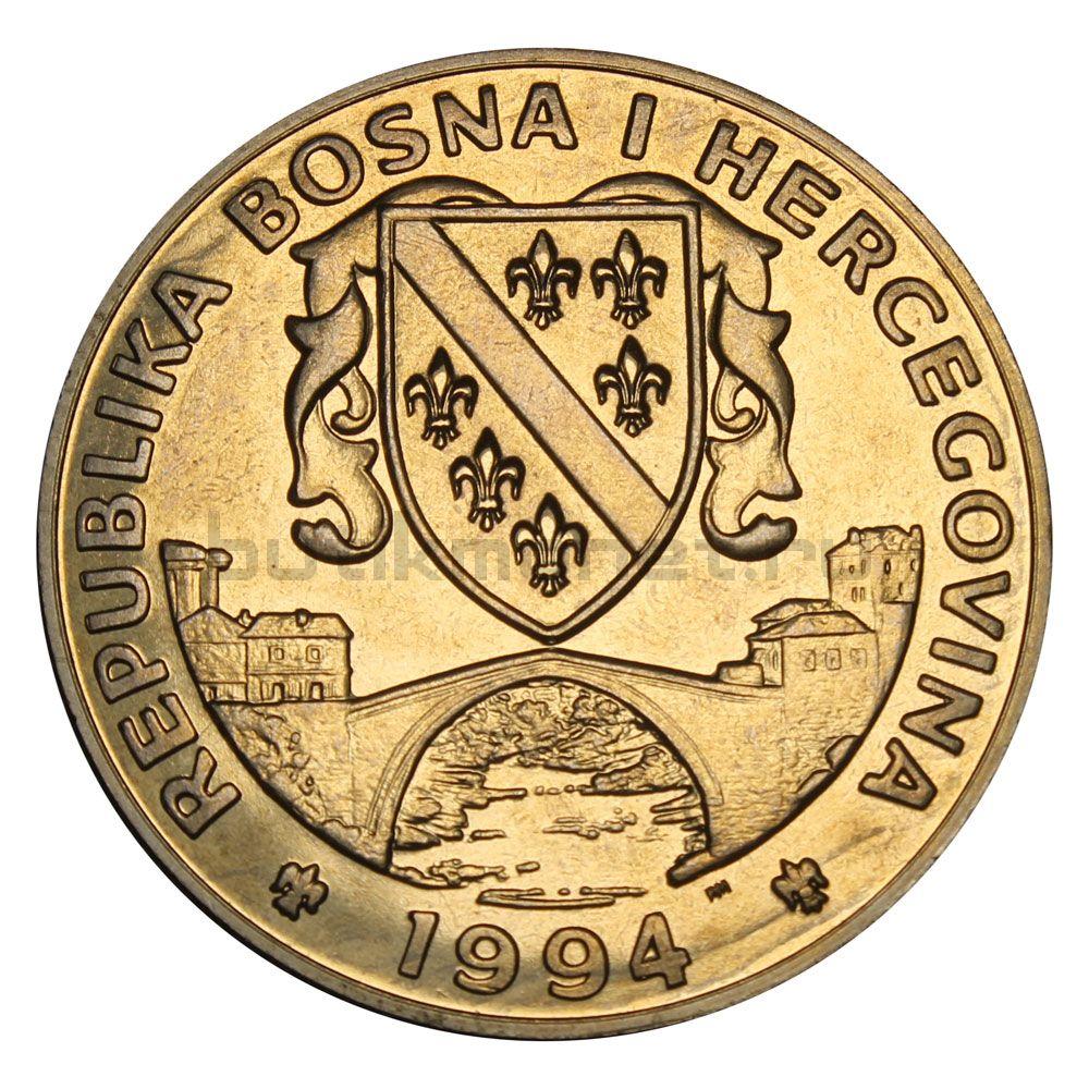 500 динаров 1994 Босния и Герцеговина Зимородок (Заповедник планета Земля)