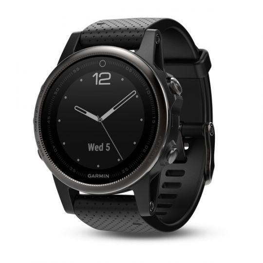 Часы Garmin Fenix 5s Sapphire черные с черным ремешком
