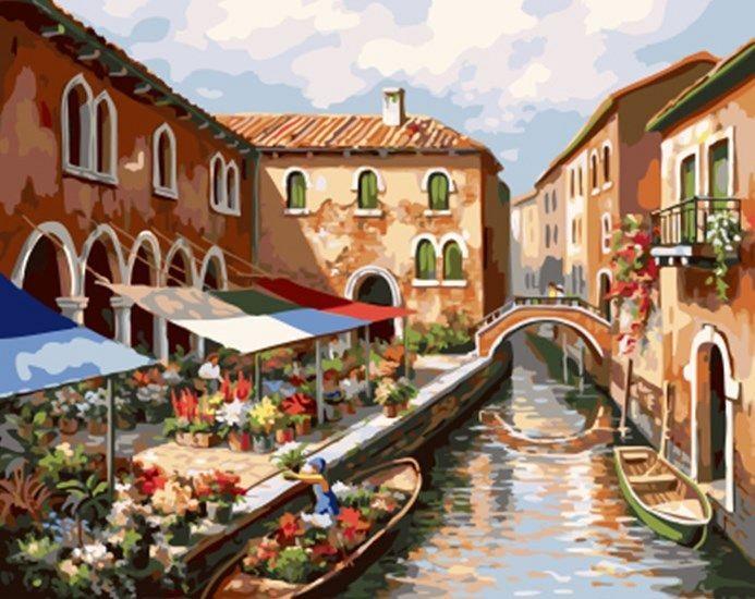 """""""Цветы Венеции""""  живопись на холсте 40х50см"""