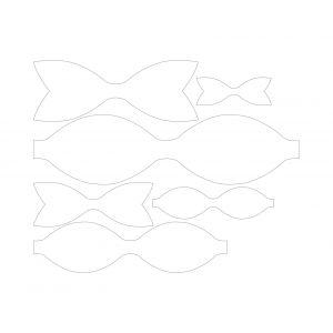 Набор шаблонов ''Classic bow'' , фанера 3 мм (1уп = 5наборов)
