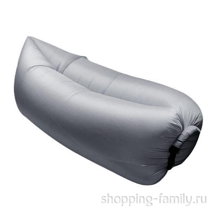 Надувной матрас гамак Lamzac (Ламзак), цвет серый