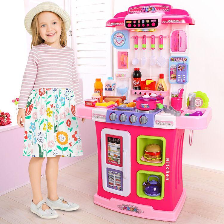 WD-P28 Высокая игровая детская кухня Люкс Рокси 95 см. с водой, интерактивная