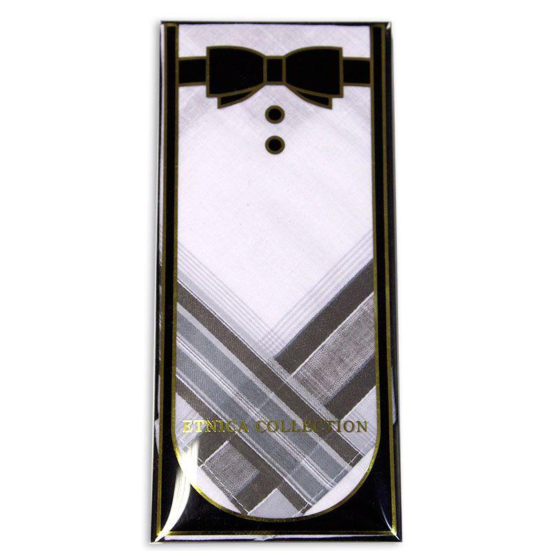 Мужской носовой платок в подарочной коробке Пд2-02л 100% х/б
