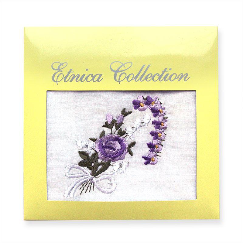Женский носовой платок в подарочной коробке Пв45-1 100% х/б