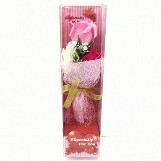 Подарочное мыло в виде букета роз в пластиковой упаковке Especially for You, 28 см, Цвет: Светло-розовый