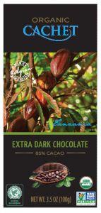 "Belçika Şokolad ""Cachet"" Extra Dark Chocolate Tanzania, 85% Cocoa, 100 г"