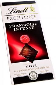 "Şokolad Lindt, ""Excellence"" Raspberry Intense, Dark Chocolate, 100 gr"