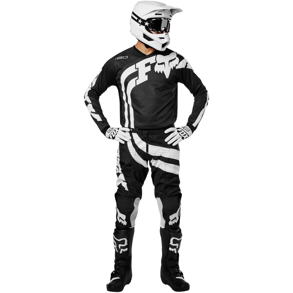 Fox - 2019 180 Cota Black комплект джерси и штаны, чёрные