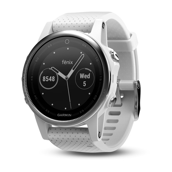 Часы Garmin Fenix 5s в белом корпусе с белым ремешком