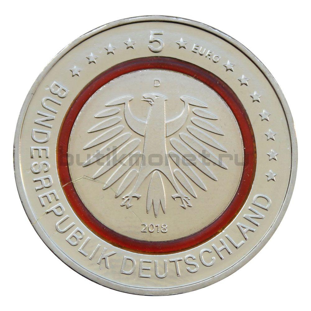 5 евро 2018 Германия Субтропическая зона
