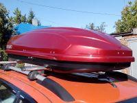 Автомобильный бокс на крышу Avatar EURO, 460 литров, красный глянцевый