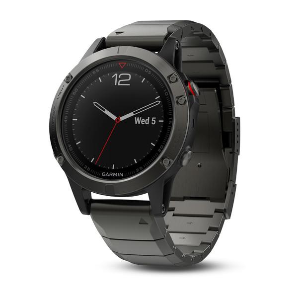 Часы Garmin Fenix 5 Sapphire серые с металлическим браслетом