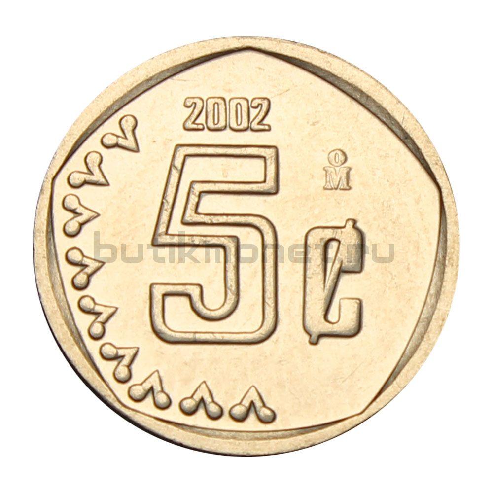 5 сентаво 2002 Мексика
