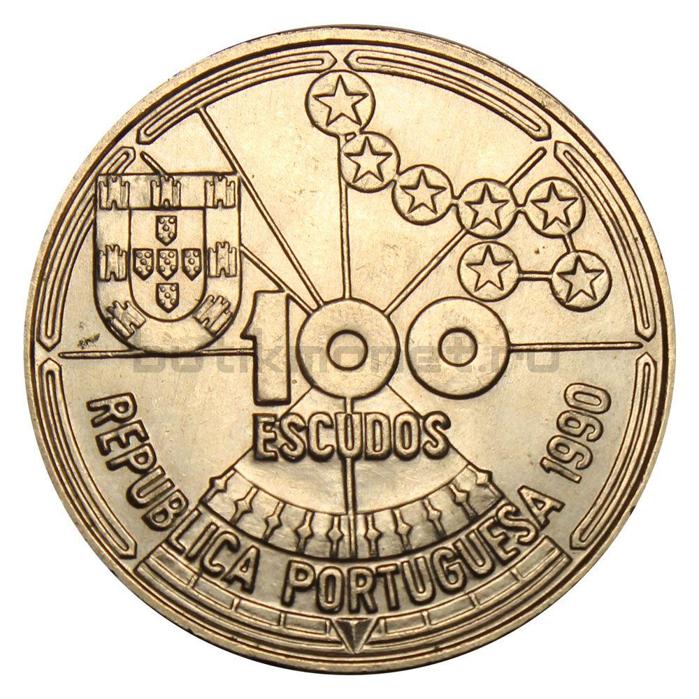 100 эскудо 1990 Португалия Астронавигация (Золотой век открытий)